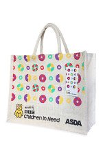 ASDA Children In Need jute bag sponsored by BBC