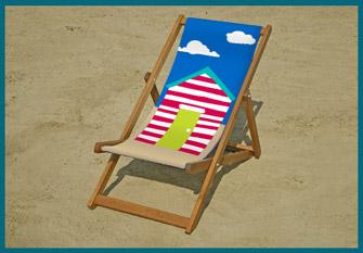 Beach huts deckchair