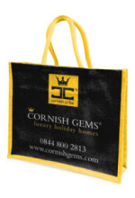 Cornish Gems jute bag
