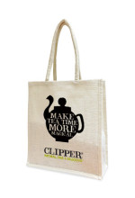 Clipper Tea jute bag