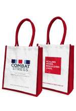 Combat Stress jute bag