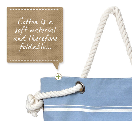 Cotton bags with bespoke handles