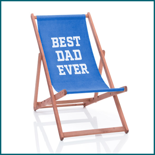 best dad ever personalised deckchair