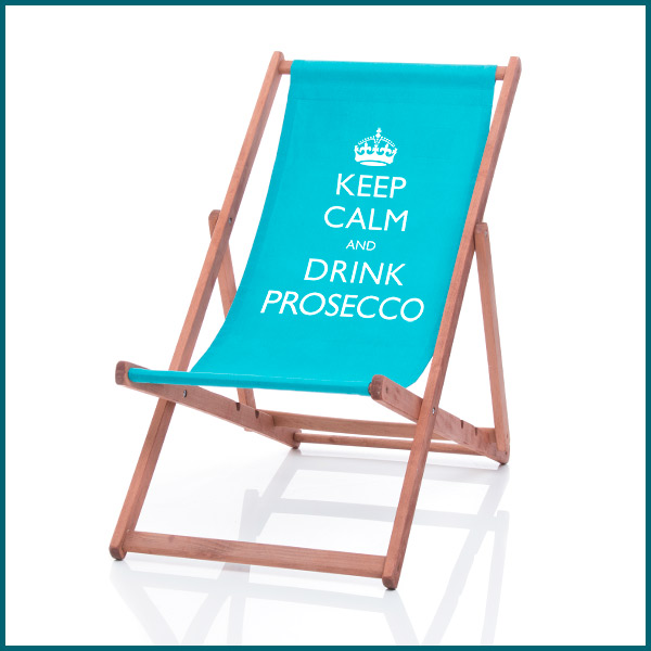 keep calm and drink personalised deckchair