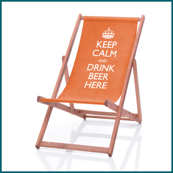 Keep Calm personalised deckchair