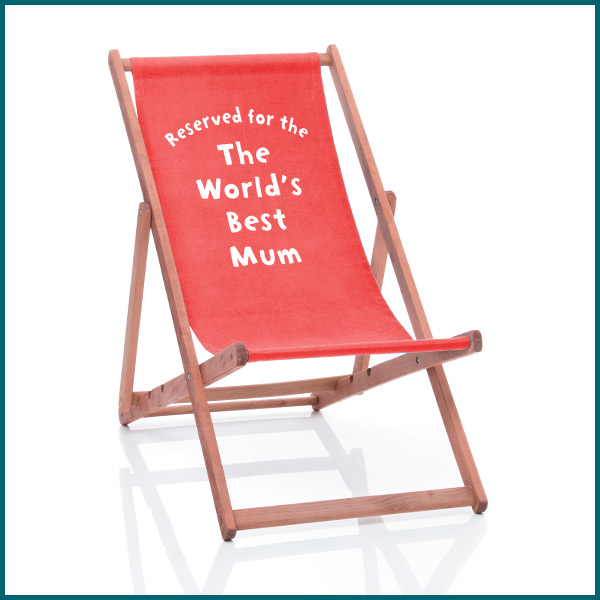 World's best mum personalised deckchair