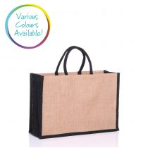Large jute bag available in various colours