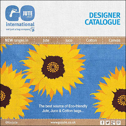 GoJute designer jute, juco, cotton and canvas bags Catalogue cover