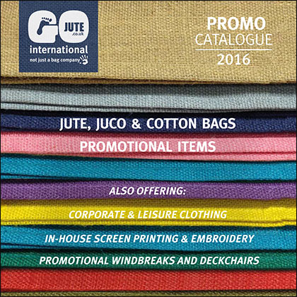 GoJute promotional products Catalogue cover