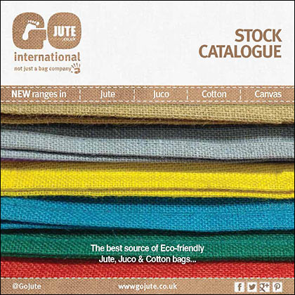 GoJute stock jute, juco, cotton and canvas Catalogue cover