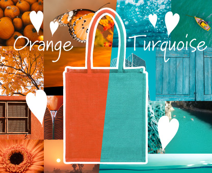 New Orange and Turquoise Bags