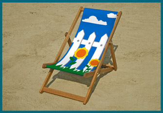 Picket fence deckchair