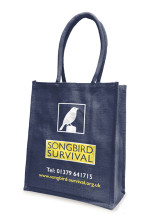 Songbird Survival jute bag