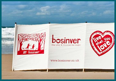 Bosinver personalised windbreaks