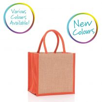 square jute bag in various colours