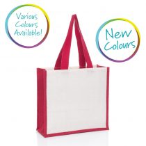medium jute bag in various colours