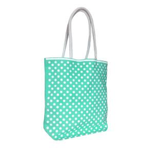 Polka Dot Cotton Bags Light Green