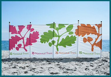 National Trust personalised windbreaks