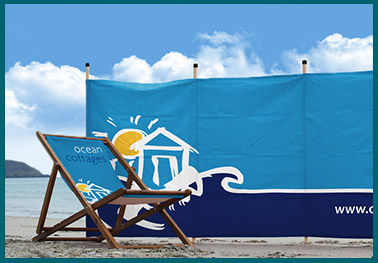 Ocean cottages personalised windbreaks