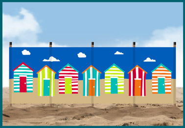 Beach Huts windbreak