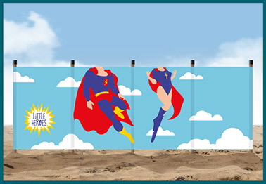 super heroes windbreak
