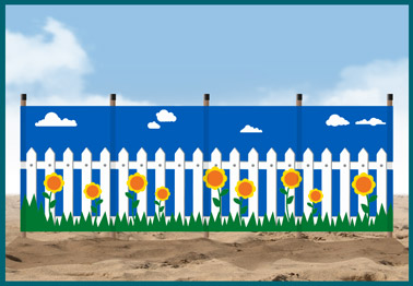picket fence windbreak