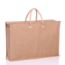 Large Zipped Jute Bag