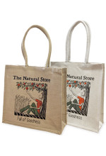 The Natural Store Cornwall jute bags in natural and white