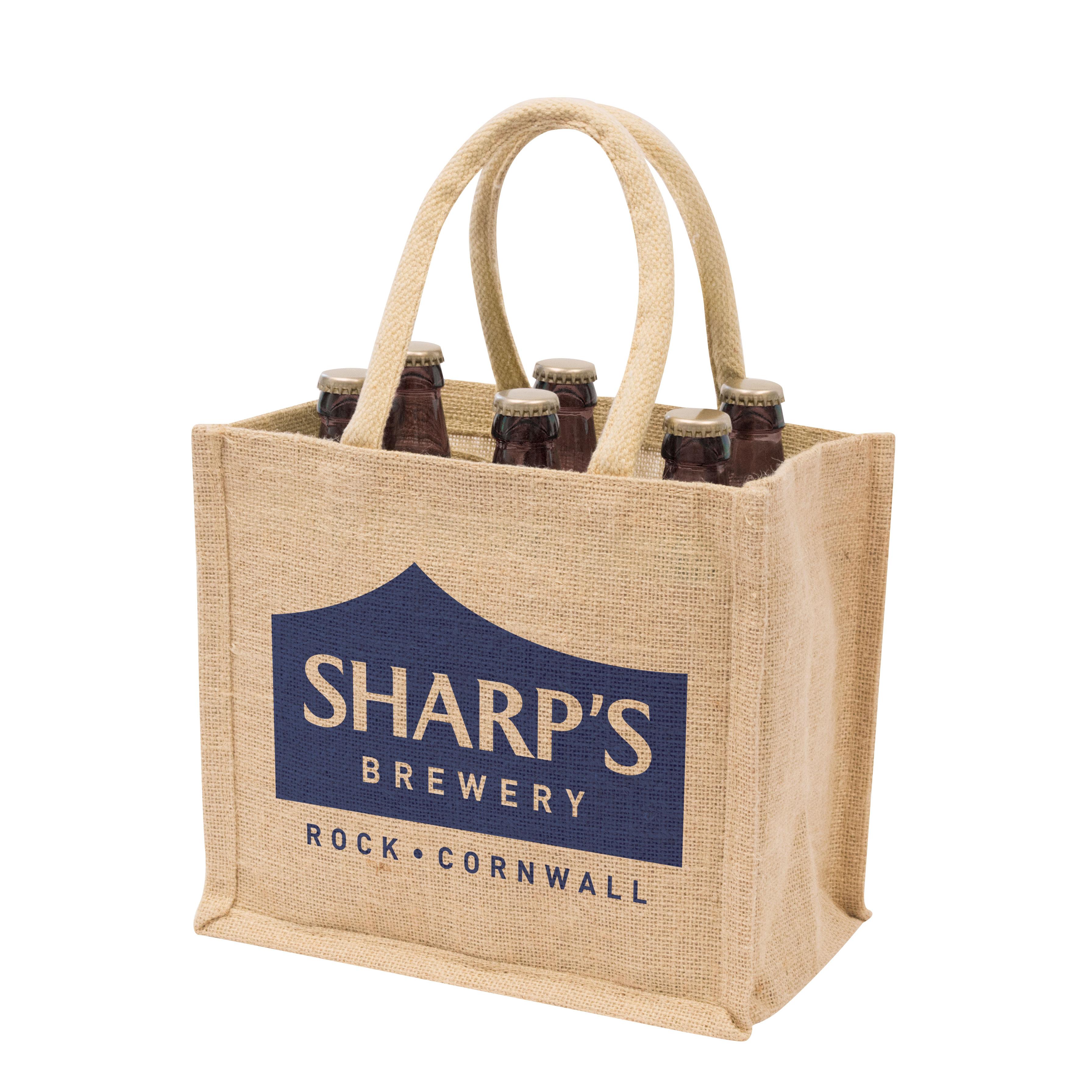 Beer Bottle Bag Sharps Brewery Jute Bags Gojute