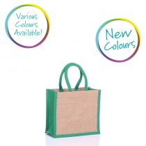 Small jute bag in various colours
