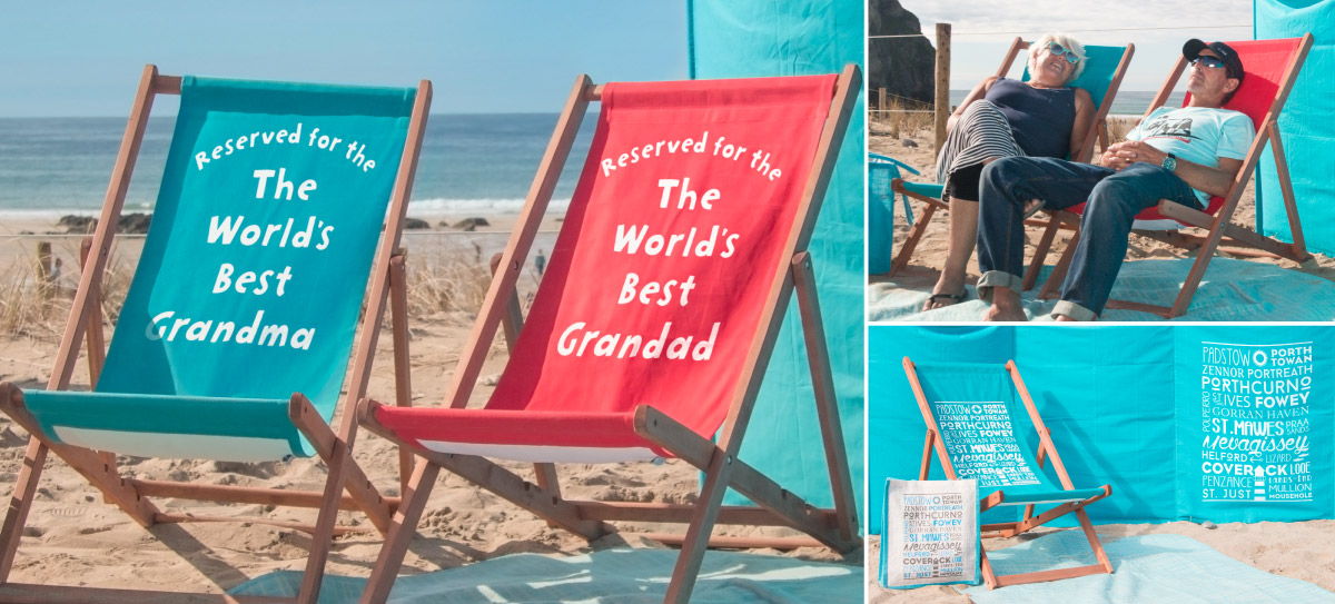 Personalised gifts windbreaks and deckchairs