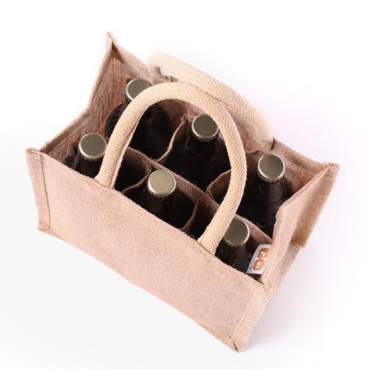 Beer Bottle Jute Bags Gojute