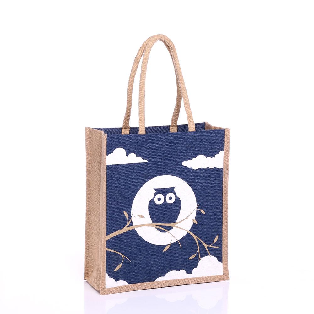 Large Owl Jute Bag Gjon L Gjor L Gojute International Ltd