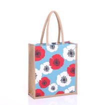 Large Poppy Jute Bags