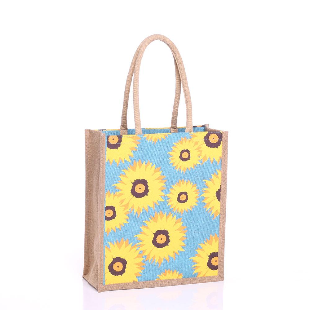 Large Sunflower Jute Bag GJSUN-L * GoJute International Ltd