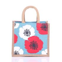 Small Poppy Jute Bags