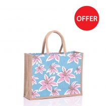 Lily design medium jute bag