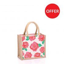 Small Roses Jute Bags