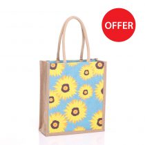 Large Sunflower Jute Bags