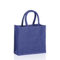 Small Jute Bags Navy Blue