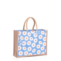 Medium Daisies Jute Bags