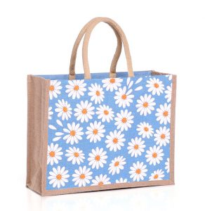 Medium Daisies Jute Bags