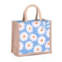 Small Daisies Jute Bags