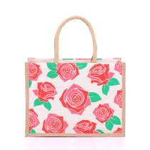 Medium Roses Jute Bags
