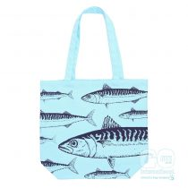 St Michaels Mount Mackerel cotton canvas bag