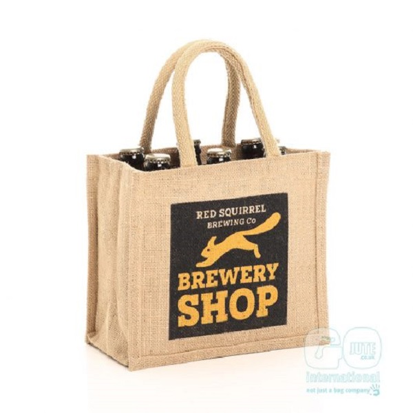 brewery bottle jute bag