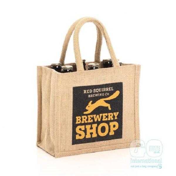brewery bottle jute bag