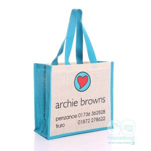 archie browns jute bag in blue