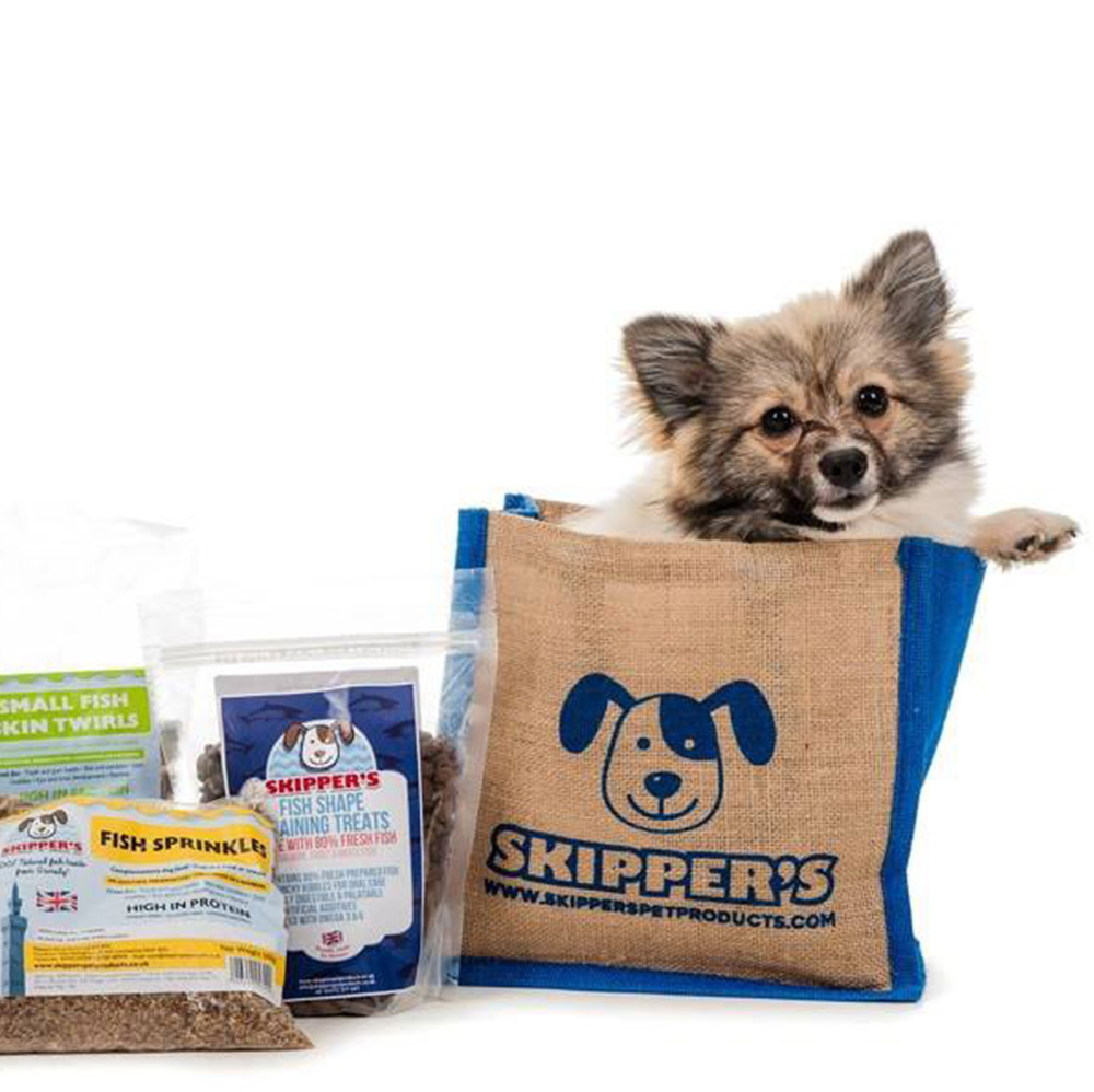 Skipper's Pet Products jute bags