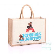 Jeremiahs Journey colourful jute bag